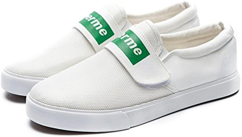 Zapatos de Hombre Canvas Spring Fall Comfort Velcro Zapatillas de Deporte Transpirables Zapatillas de Correr Mocasines  -
