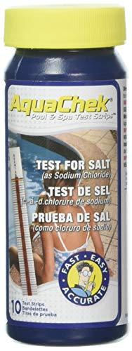 AquaChek Ocedis Teststreifen zum Messen des Salzgehalts, 10Stück, rot, 19x 10x 4cm 411810001 (Salz-pool Teststreifen)