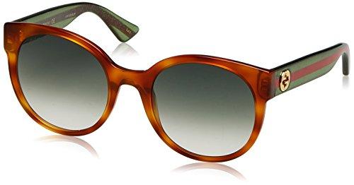 Gucci Damen GG0035S 003 Sonnenbrille, Braun (Avana/Green), 54