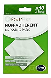10x Sterile Low Adherent Dressing Pads Medical Wound First Aid 3 Sizes Shopmonk by Zizzi