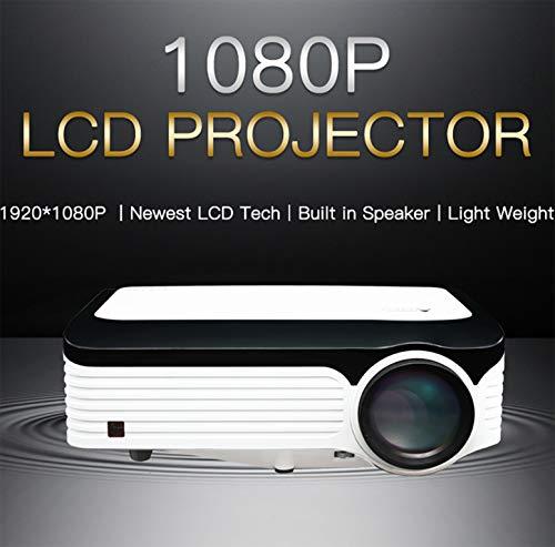 Projektor Hd 1080p Wireless 5g WiFi Multifunktions Led 20000 Stunden 3D Stereo Sound Stille Kühlung Geeignet für Heimkino-Büro Bildung