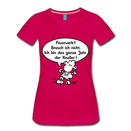 Lamm Dunkler T-shirt (Spreadshirt Sheepworld - Feuerwerk Frauen Premium T-Shirt, M, dunkles Pink)