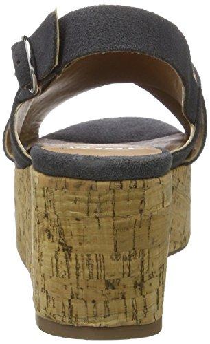 PMS Casma Cork Sandal, Sandales Bout Ouvert Femme Grau (dk Grey 013)