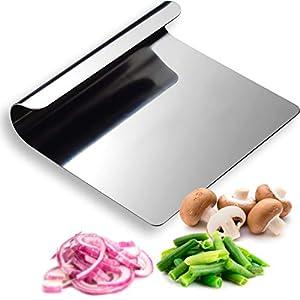 Hausfelder VIELZWECK-KÜCHENHELFER aus 18/10 Edelstahl - Küchen Spachtel, Schaufel und Schaber einsetzbar als Gemüseschaufel Kochschaufel Teigkarte (1 Stück)