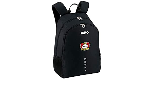 Jako Fußball Bayer 04 Leverkusen Rucksack Classico Unisex Backpack schwarz