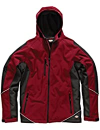 Dickies JW7010 RDB S Two Tone Veste Softshell Taille S Rouge/Noir
