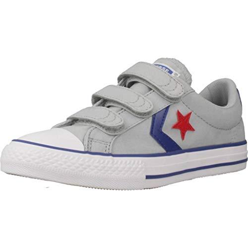 Converse Star Player 3V Canvas OX Sneaker Kind Grau - 28 - Sneaker Low - Converse Jungen Schuhe