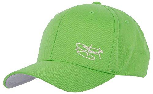 2Stoned Flexfit Cap Wooly Combed Fresh Green mit Stick, Größe S/M (56 cm - 58 cm), Basecap für Damen und Herren -