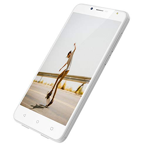 Smartphone Libres 4G Telefonos Moviles 2GB RAM 16GB ROM movil 5.5 Pulgadas SIM Doble Android 7.0 Moviles Cámara 8MP+5MP Batería de 2970mAh (S6 Telefono Movil 4G,Blanco)