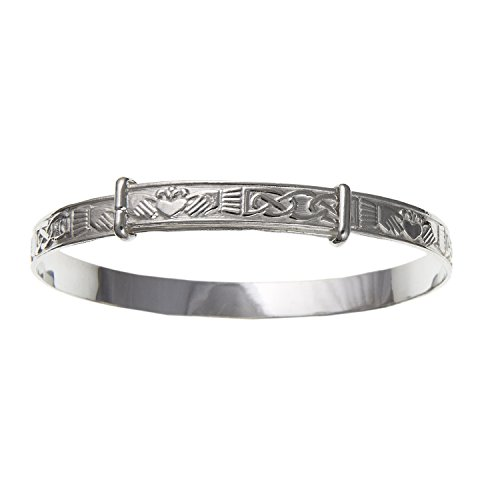 Irisch keltische Claddagh Expansion/erweiterbar Damen Armreif Armband-925Sterling Silber, Lieferung erfolgt in Geschenkbox oder Geschenkbeutel