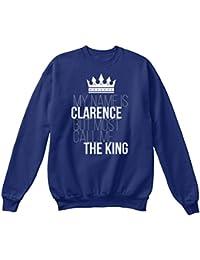 Teespring Men's Novelty Slogan Sweatshirt - Clarence Most Call Me The King