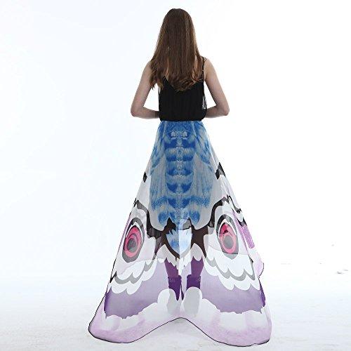 Womens Weihnachtsbaum Kostüm - Junjie Chiffon Schmetterling Flügel Schal,Damen Ladies