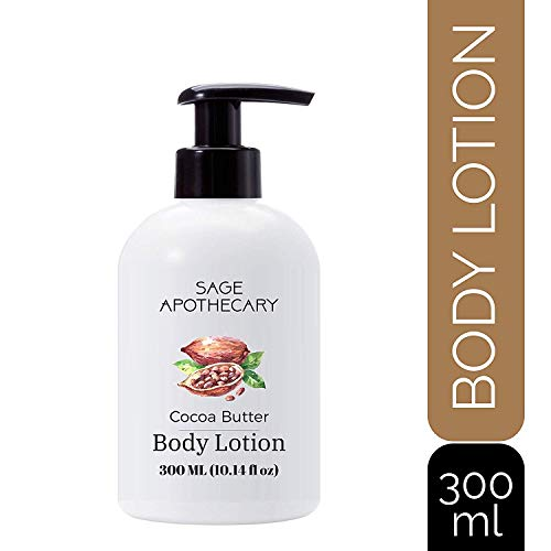 Sage Apothecary Body Lotion Cocoa Butter | Deep Moisturising | All Skin | Paraben & Mineral Oil Free | 300ML