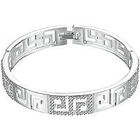 JGDF Hollow Bangle Mujeres Moda Brillante Plata esterlina 925 Pulseras y brazaletes joyería de Moda de Alta Calidad