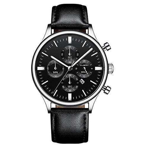 YEARNLY Herren Uhren Mode Wasserdichte Chronograph Quarz Uhr für Mann Luxus Business Kleid mit Schwarzem Edelstahlgewebe