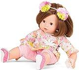 Götz 1727187 Maxy Muffin Daysi Do Puppe - 42 cm große Babypuppe mit braunen Schlafaugen, braunen Haaren und Weichkörper - 6-teiliges Set