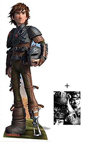 Fan Pack - Hiccup from How To Train Your Dragon 2 Lifesize Cardboard 2D Standup / Cutout Plus 20x25cm