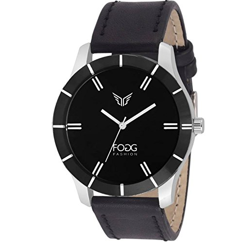 Fogg Analogue Black Dial Men\'s Watch(1004-BK)