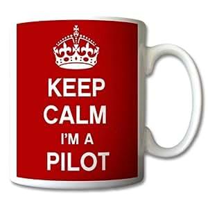GreatDeals4you Mug «Keep Calm I'm A Pilot» [en anglais]
