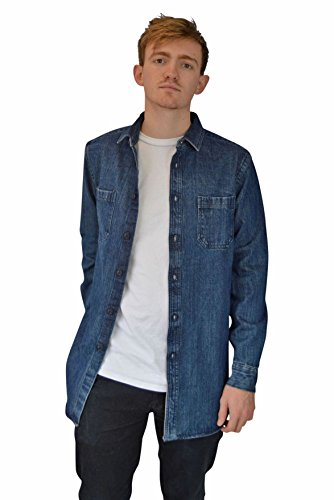 ASOS Mens Heavy Denim Shirt Jacket Size XL Blue