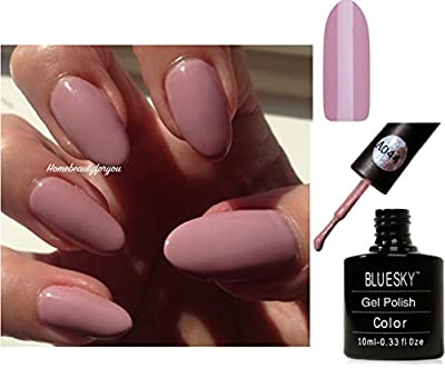 Bluesky A44 Musk Pink Pastel Nude Nail Gel Polish UV LED Soak Off 10ml PLUS 2 Luvlinail Shine Wipes