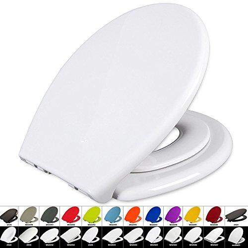 Toilettensitz WC-Sitz mit Absenkautomatik, #22, Fix-Clip, Mit integriertem Kindersitz Softclose, Antibakteriell, (WS2584 Weiß)