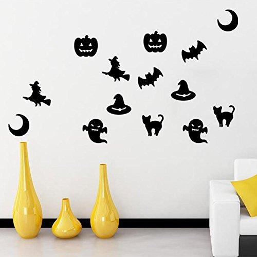 keit Hintergrund Wandbild Halloween Kürbis bat Wohnzimmer flache Wand Aufkleber Abnehmbare wasserdichte Schlafzimmer Dekoration Aufkleber (Kürbisse Halloween-hintergrund)
