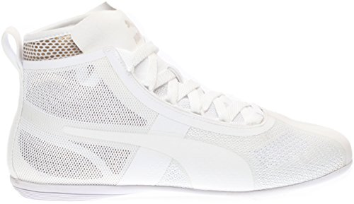 Puma Eskiva Mid EVO Synthétique Baskets Puma White-Gold