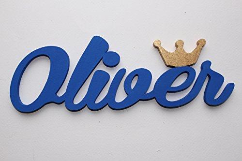 Mädchen Name mit einer silber Krone Tür Vorlagen, Oliver, Taufe Geschenke, Valerie, personalisierbar Tür Schilder, Kinderzimmer-Custom Geschenke, Weihnachten Geschenke Mia, Werkstatt, an den Verkäufer über Amazon-Nachricht, die gewünschten Namen und Farbe (Nachricht Produkte)