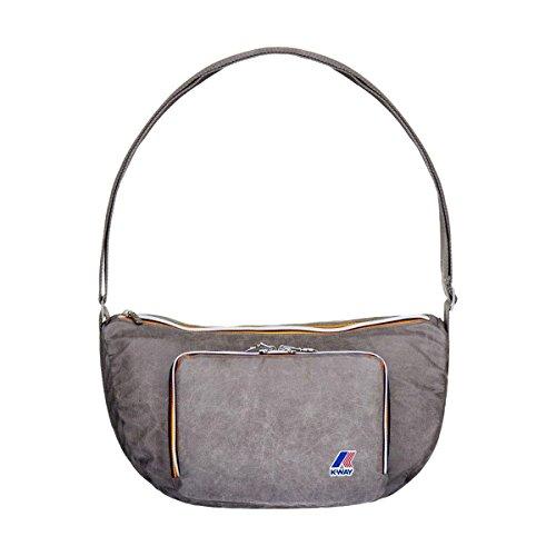 K-Way , Damen Schultertasche Mehrfarbig mehrfarbig grau
