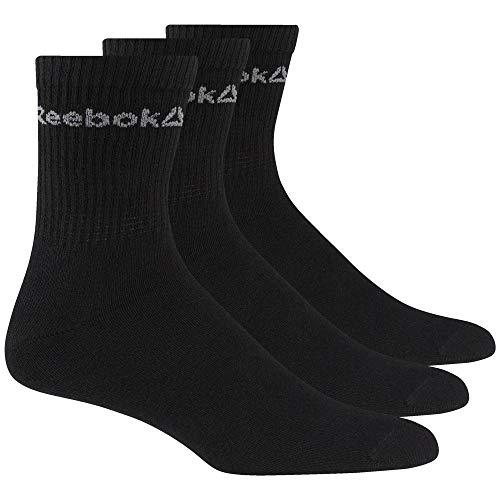 Reebok Act Core Crew Sock 3P Calcetines, Unisex Adulto, Negro, 39/42