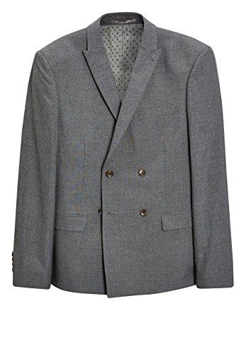 next Herren Melierter Anzug Zweireihiges Sakko–Slim Fit Grau EU 96.5 Regular (UK 38R) -