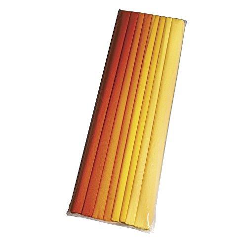 RAYHER Bastelkrepp Set, Bastelkrepp, Gelb/orange, 50.5 x 17 x 3.5 cm, 4 Einheiten