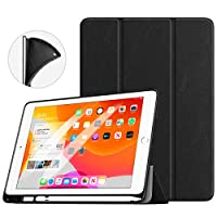 TiMOVO Case Compatible with New iPad 2019 with Apple Pencil Holder, Smart Case [Light Weight] Slim Back Protector with Auto Wake/Sleep, Smart Cover Fit New iPad 2019