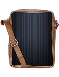 Snoogg Black Stripes Sling Bags Crossbody Backpack Chest Daypack Travel Bag Book Bag For Men&Women