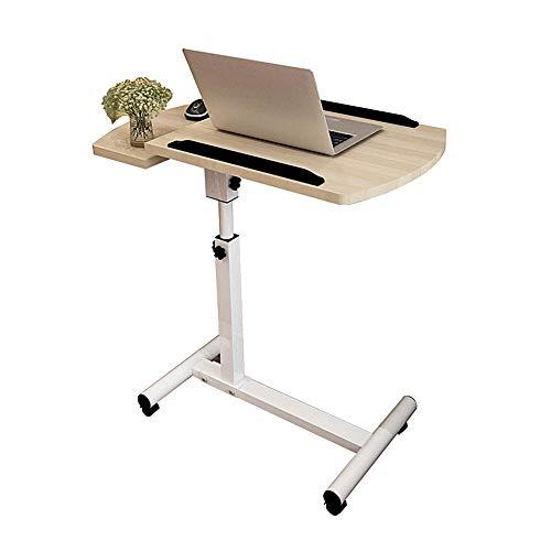 Wupo carrello porta computer portatile da scrivania con tavoletta mouse, altezza regolabile, 4 ruote, scrivania computer pieghevole