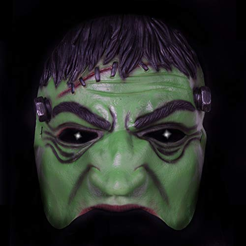 Jannes Premium Halloween Halb-Maske Latex für Erwachsene   Frankenstein   Horror-Maske für Halloween-Kostüm   Verschiedene Charaktere aus Horror- & (Frankenstein Kostüm Für Erwachsene)