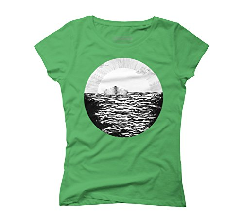 Abandoned to the Sun Women's Graphic T-Shirt - Design By Humans Green