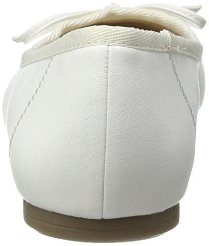 Tamaris 22100, Ballerines Femme Blanc (WHITE MATT 108)