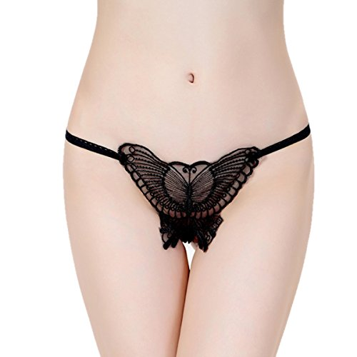 Dissa 2er Pack Z2012 Damen Panties Strings Tanga Schwarz