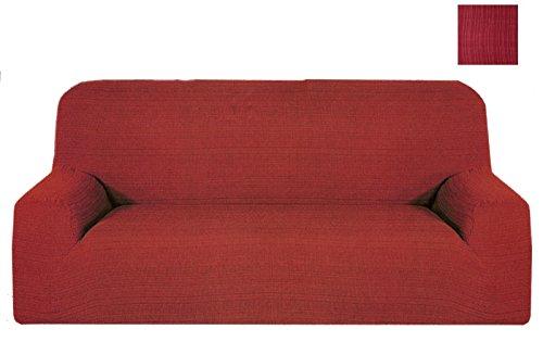 Takestop® copridivano 4 posti bordeaux africa estendibile da 170 a 280 cm salvadivano copri divano tessuto elasticizzato made in italy