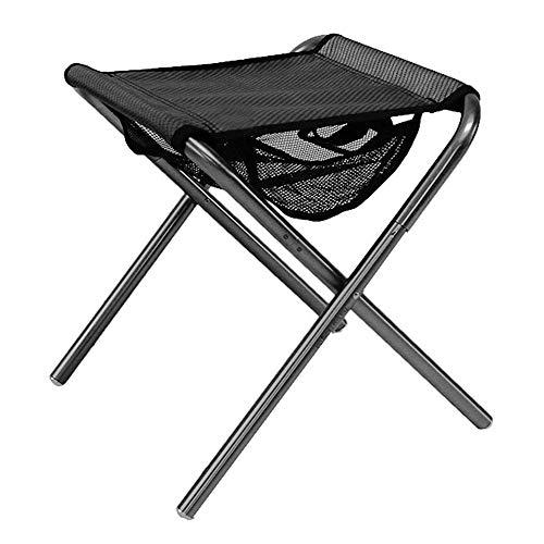 Tragbarer Klapphocker, Tragbarer Klapphocker Campinghocker Angeln Hocker Stuhl Sitz mit Netztasche für Reise Multi Tool Outdoor Tools Campingausrüstung -