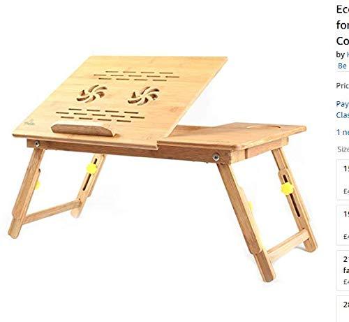 JASZW Laptop-Kühler, Lap Desk für Laptop-Ständer/Tisch 21 Zoll, mit doppeltem Laptop-Lüfter und Schublade,M -
