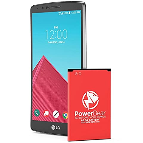 PowerBear LG G4 Battery [3000mAh] New Replacement Battery for the LG G4 (H815, H815 LTE-A) G4 Spare Battery [24 Month Warranty]