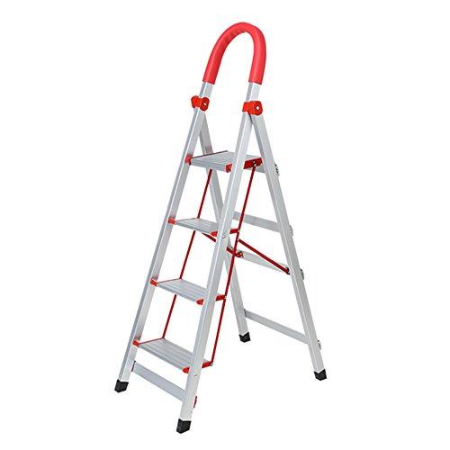 DNSJB Pieghevole Ladder-Step Ladder Antirust 3/4 Steps Ladder Ladder Outdoor Indoor (Dimensioni : 4 Steps)