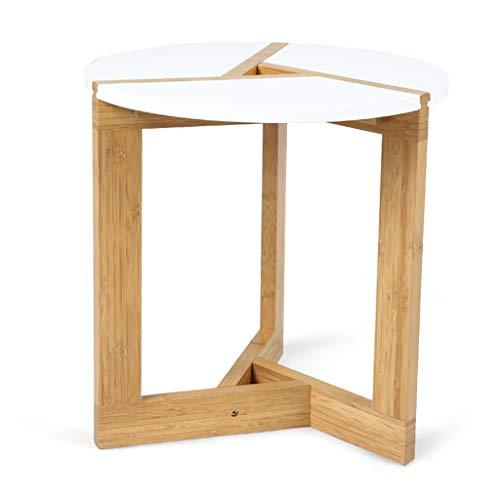T-Day Beistelltische Nachttisch Tische Couchtisch Scalloped Sofa-Beistelltisch-Couchtisch-Kleiner Tisch-Fester hölzerner Endtisch für Wohnzimmer, Büro (Size : 50CM) (Beistelltisch Büro Kleines)