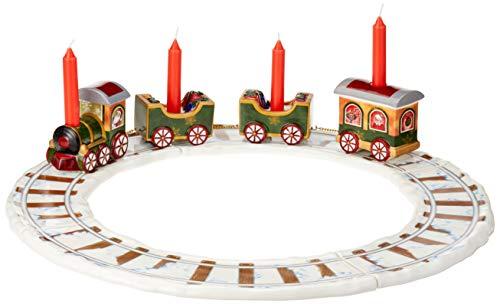 Villeroy & Boch North Pole Express Kerzenhalter 'Zug mit Gleisen', 4-teiliges Set, Porzellan,...
