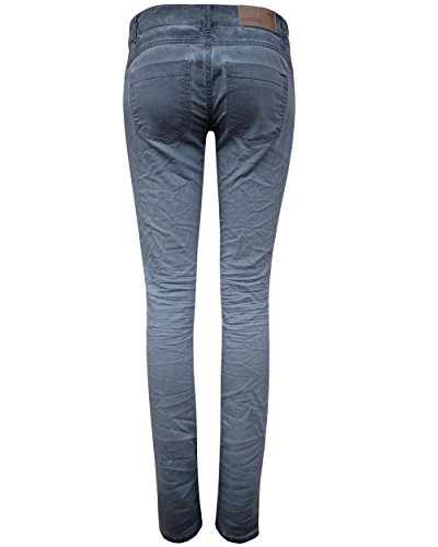 Coccara Damen Vintage Hose comfort fit braun Blau-Grau