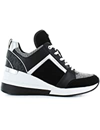4454507fb1 Michael Kors Scarpe da Donna Sneaker Georgie Nero Bianco Autunno Inverno  2019