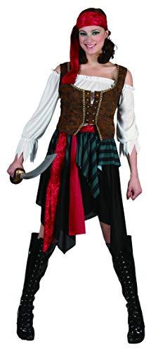 5 Teilig Pirat Kostüm - Generique - Piraten-Kostüm für Damen 5-teilig XS